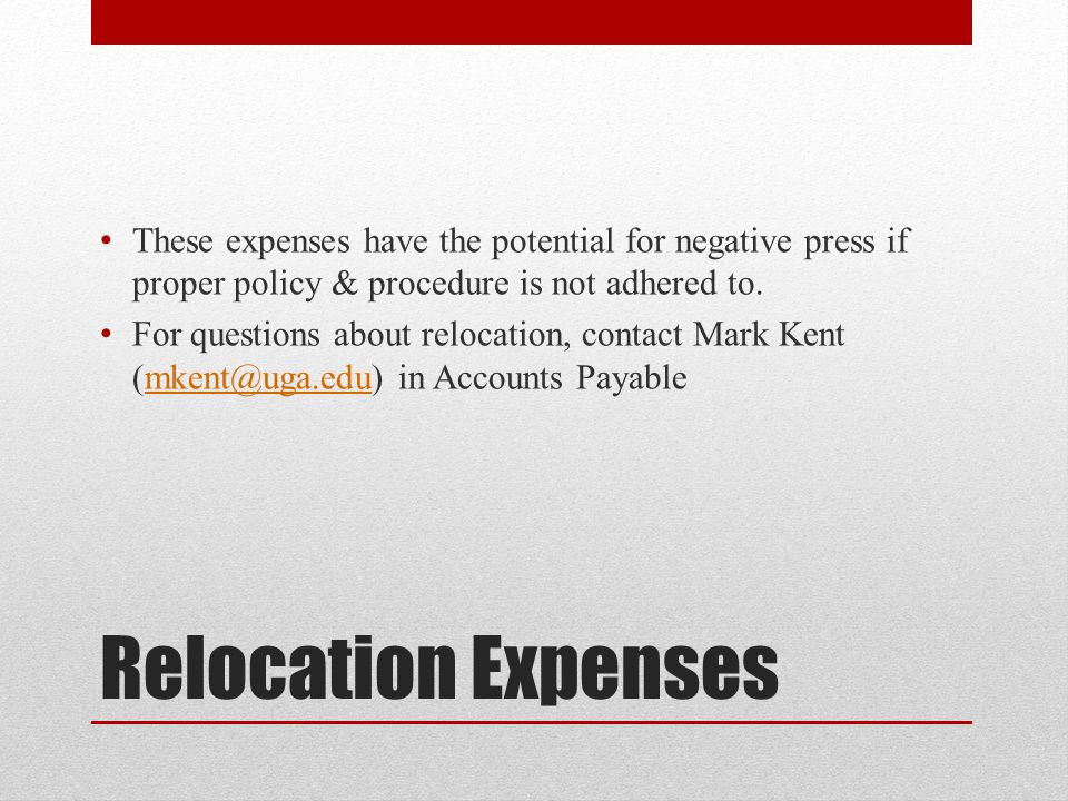 These expenses have the potential for negative press if proper policy & procedure is not adhered to.