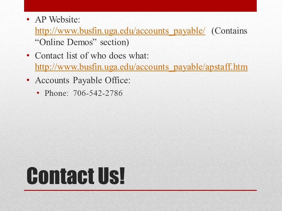 AP Website: http://www. busfin. uga