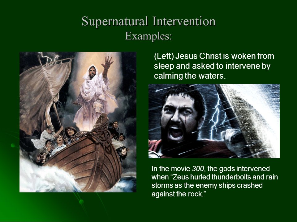Supernatural Intervention Examples: