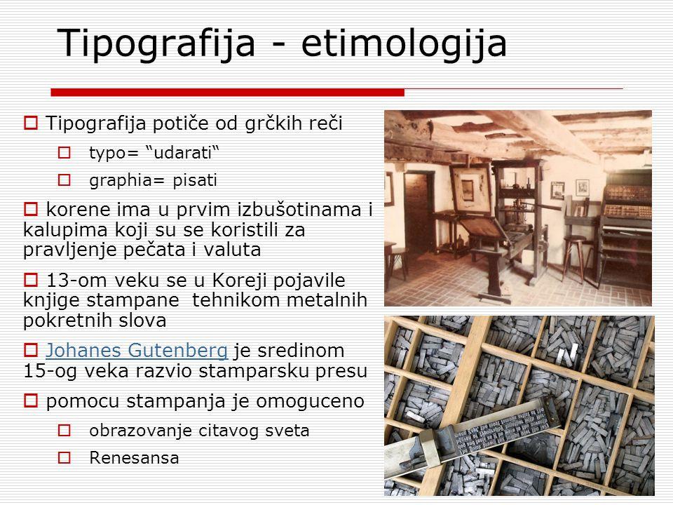 Tipografija - etimologija
