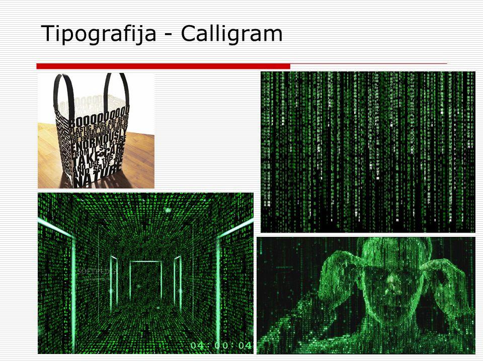 Tipografija - Calligram