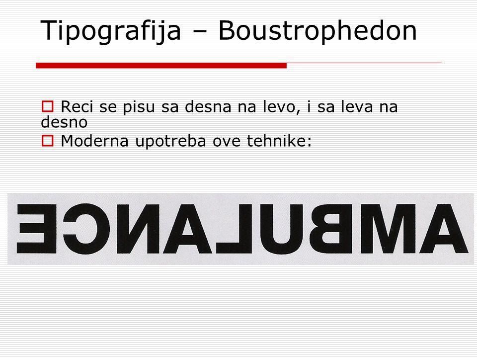 Tipografija – Boustrophedon