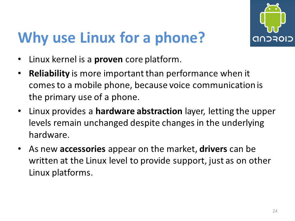 Why use Linux for a phone