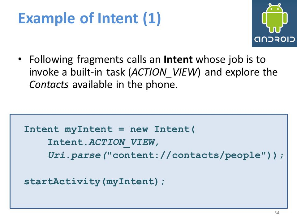 Example of Intent (1)