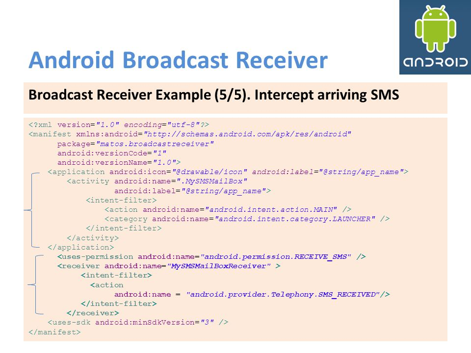 Android Broadcast Receiver