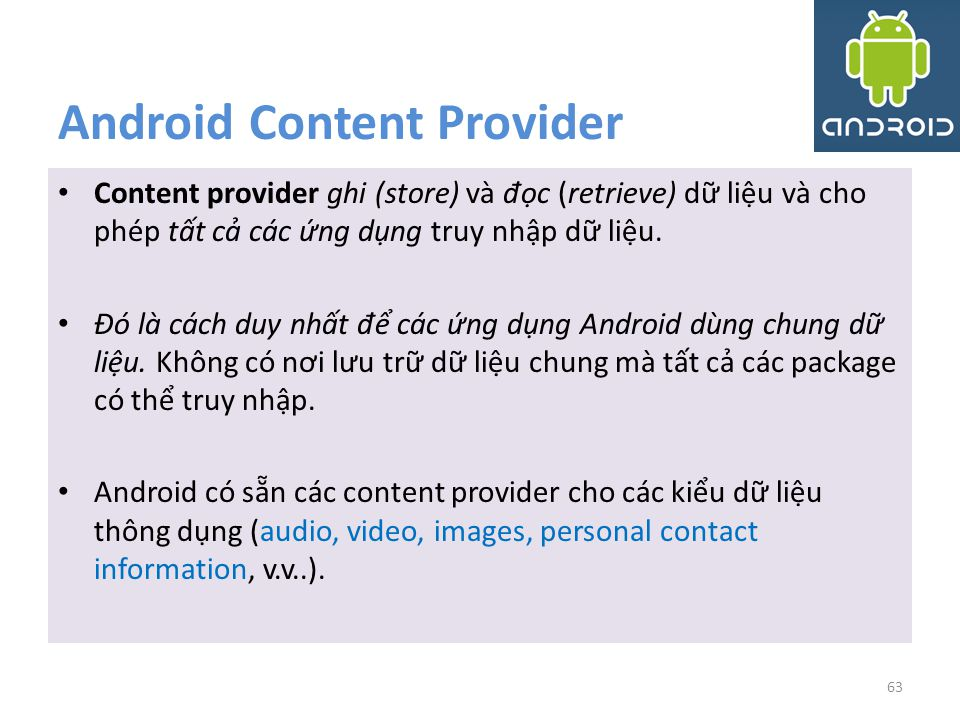 Android Content Provider