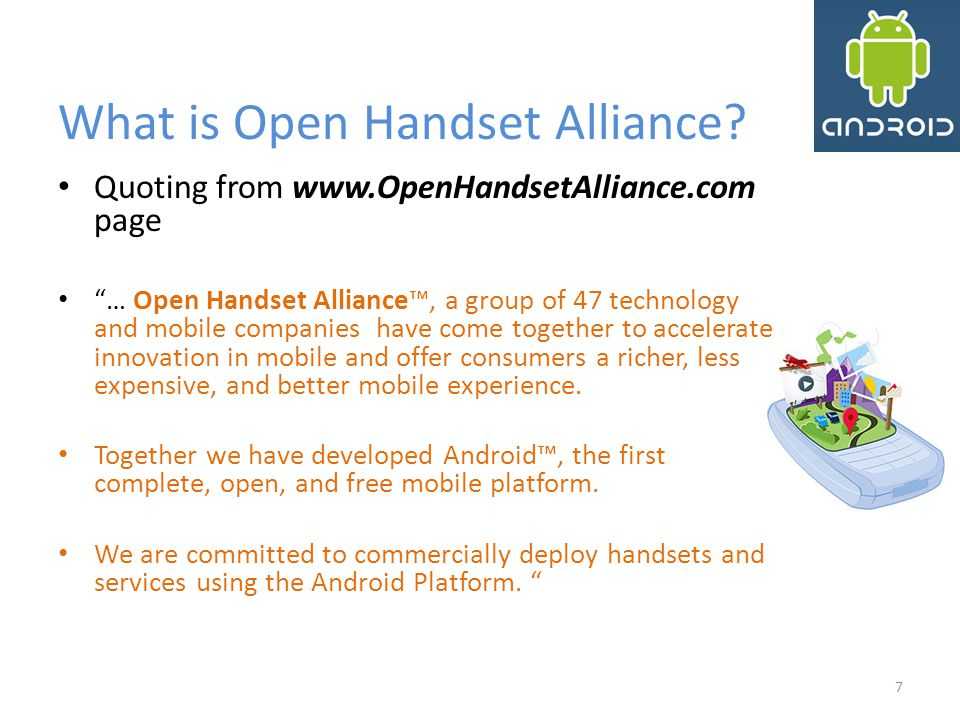 What is Open Handset Alliance