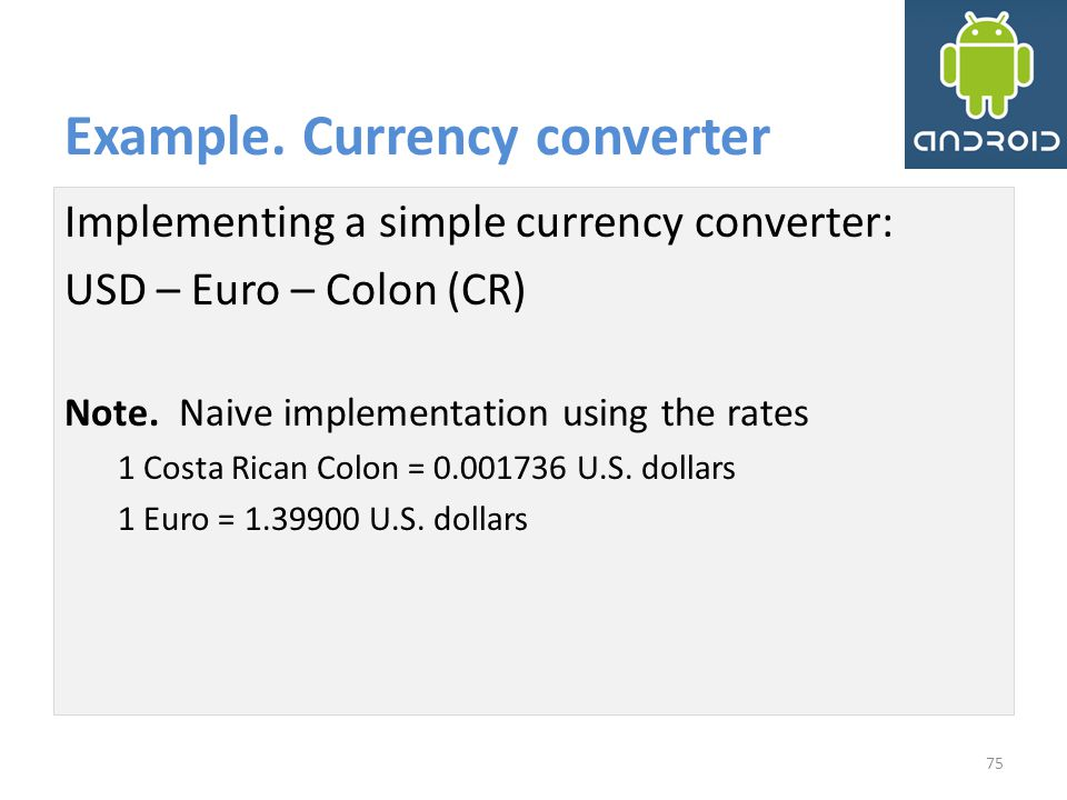Example. Currency converter