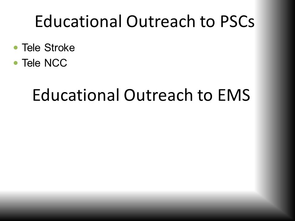 Educational Outreach to PSCs