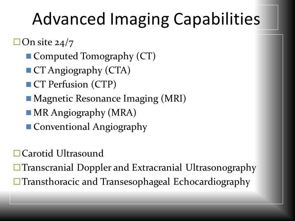 Advanced Imaging Capabilities