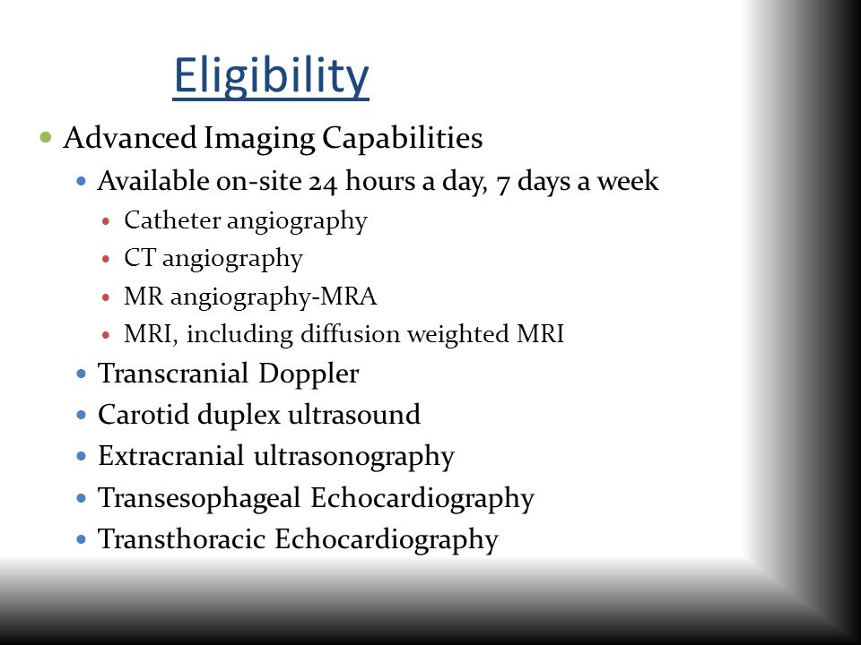 Eligibility Advanced Imaging Capabilities