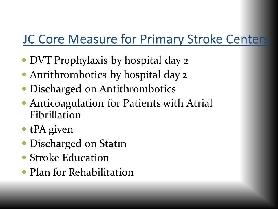 JC Core Measure for Primary Stroke Centers