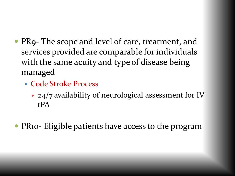 PR10- Eligible patients have access to the program