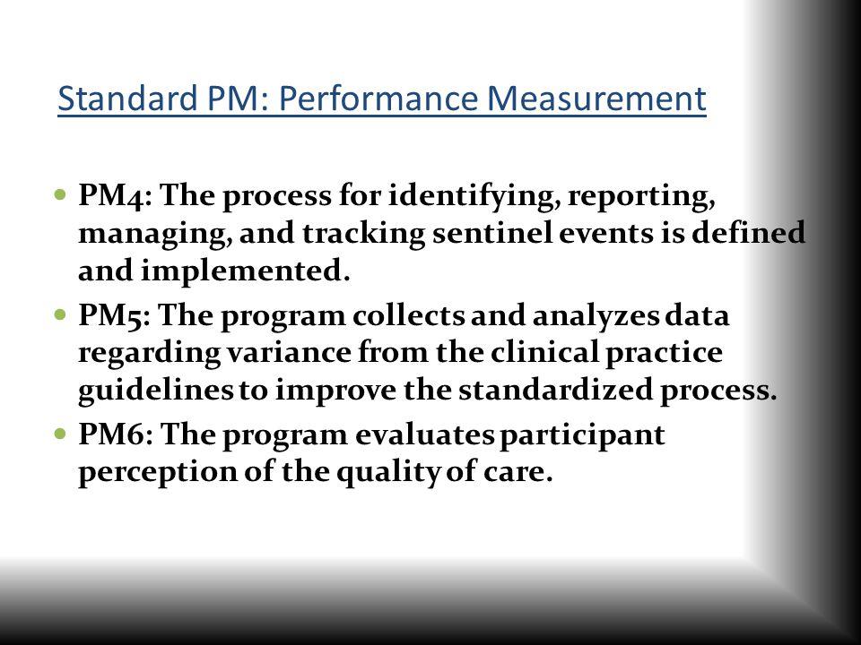 Standard PM: Performance Measurement