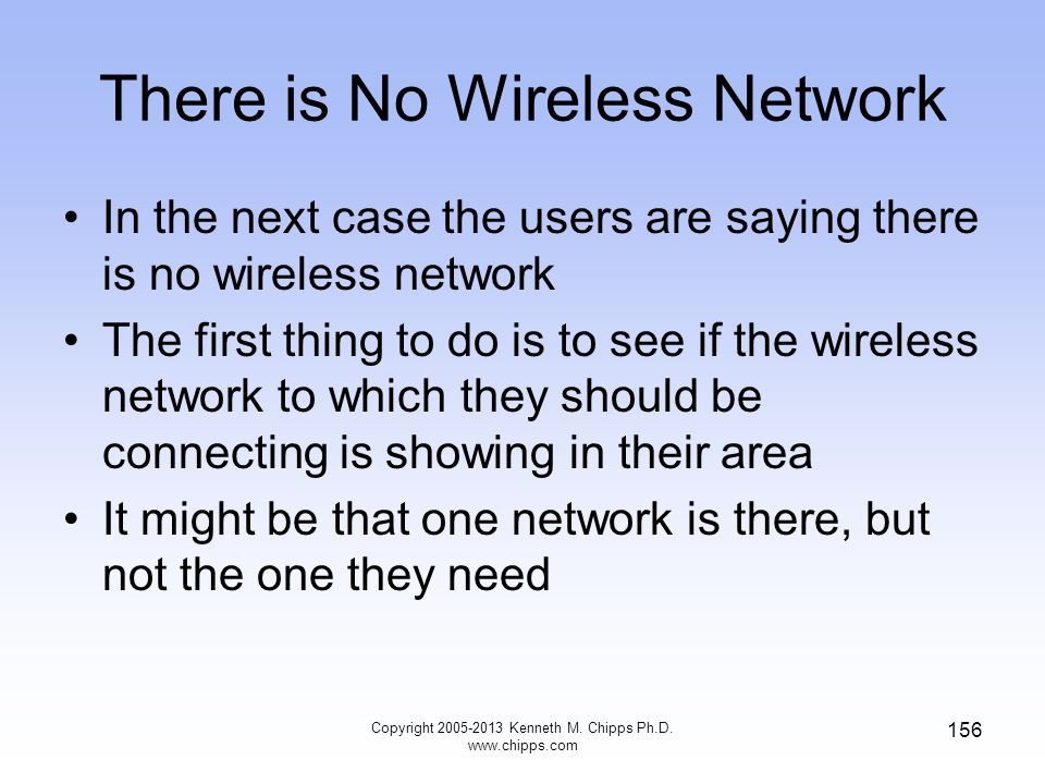 There is No Wireless Network