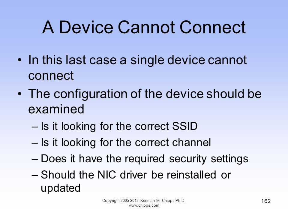 A Device Cannot Connect