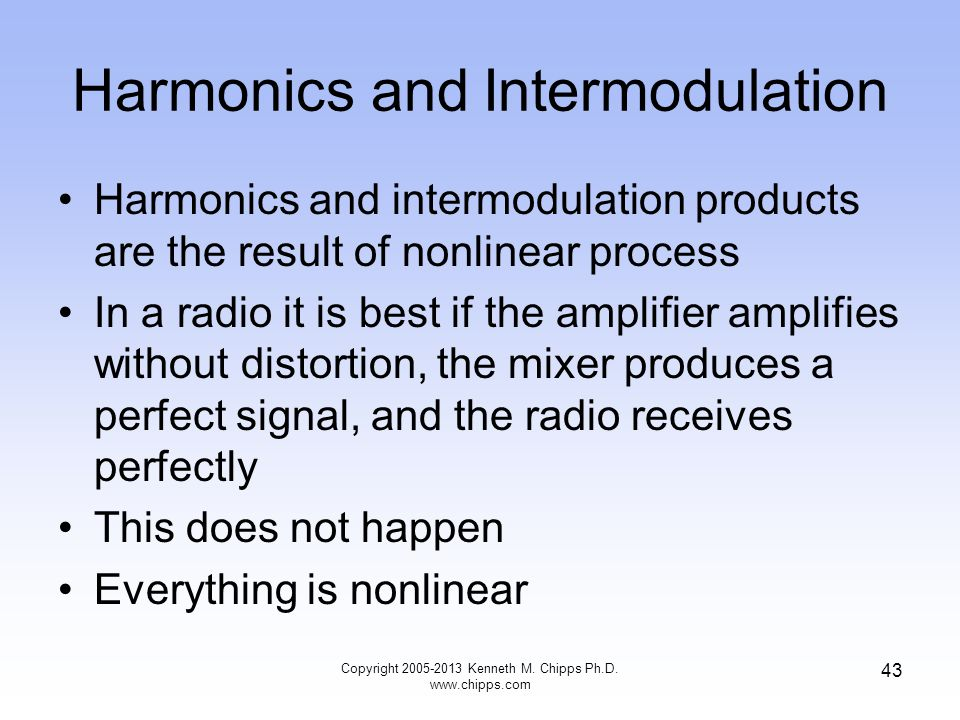 Harmonics and Intermodulation