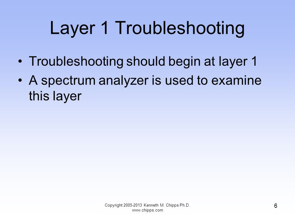 Layer 1 Troubleshooting