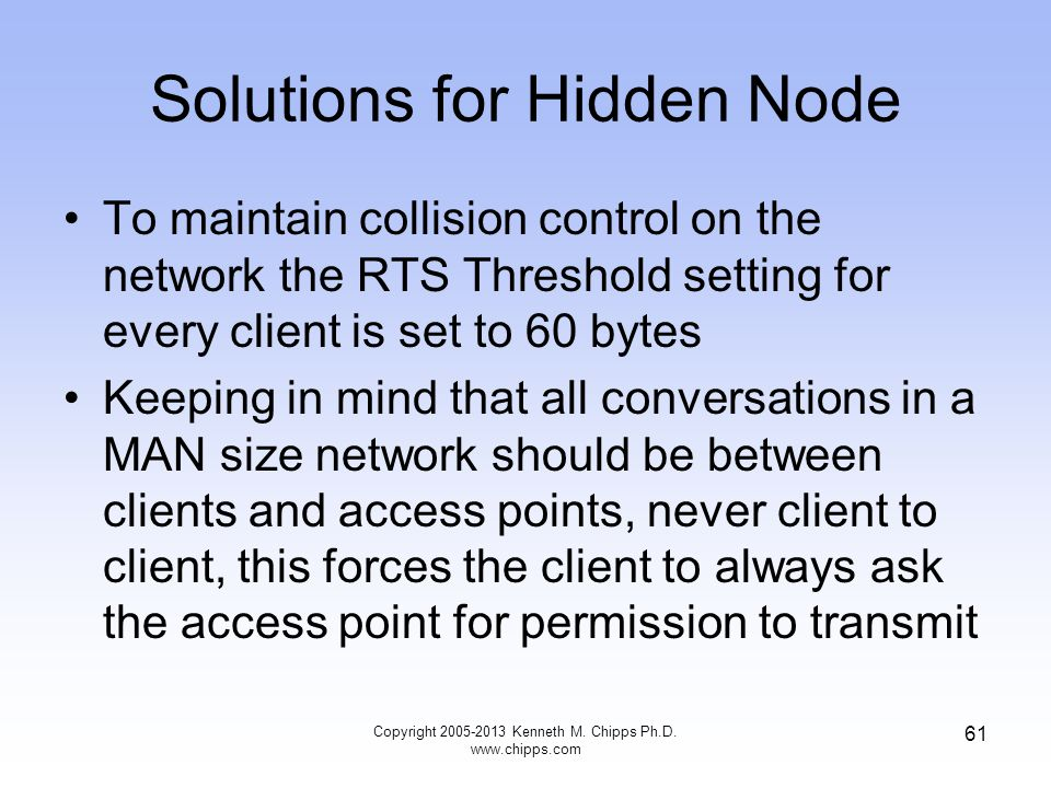 Solutions for Hidden Node