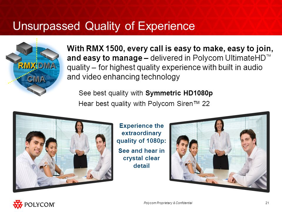 Unsurpassed Quality of Experience