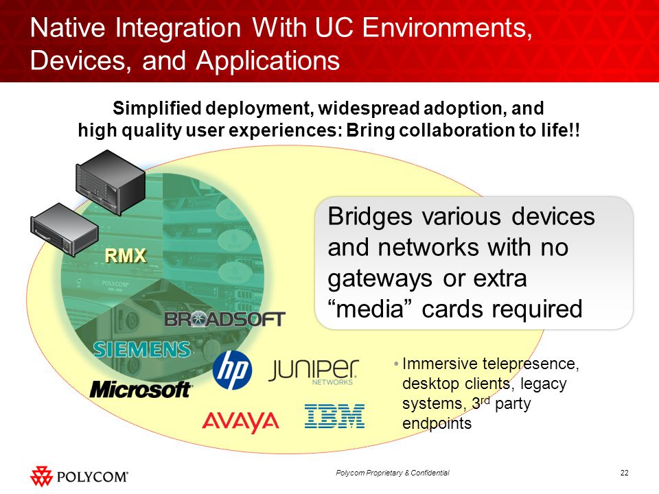 Native Integration With UC Environments, Devices, and Applications
