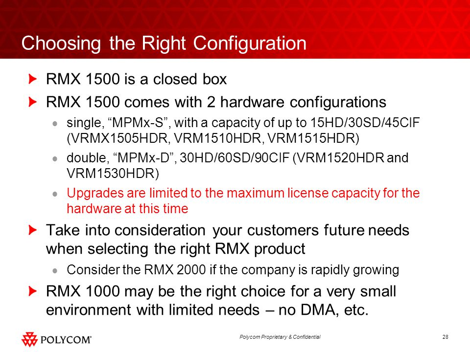 Choosing the Right Configuration