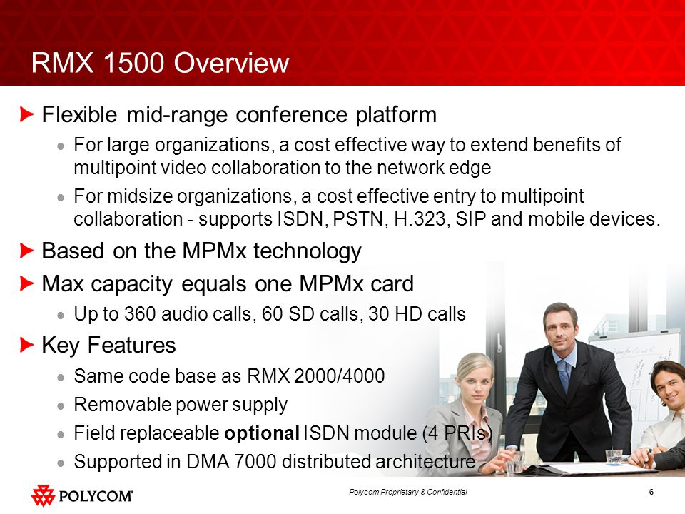 RMX 1500 Overview Flexible mid-range conference platform
