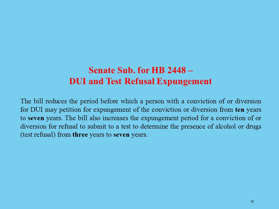 DUI and Test Refusal Expungement