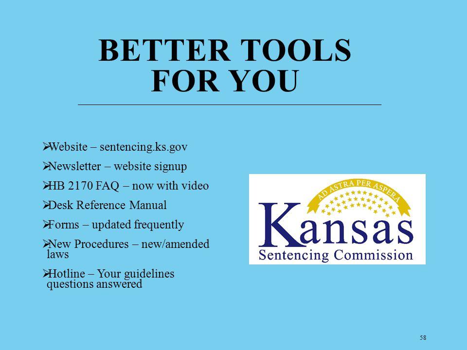 Better Tools for you Website – sentencing.ks.gov