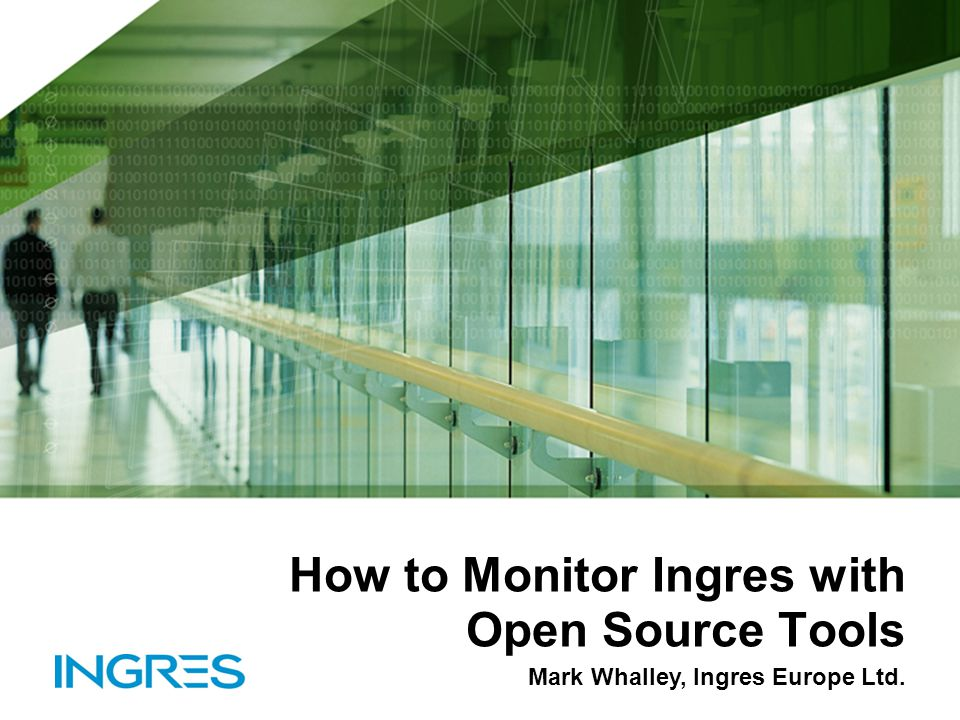 How to Monitor Ingres with Open Source Tools