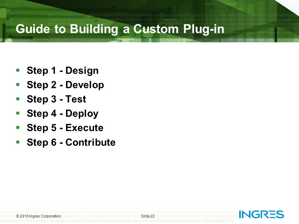 Guide to Building a Custom Plug-in