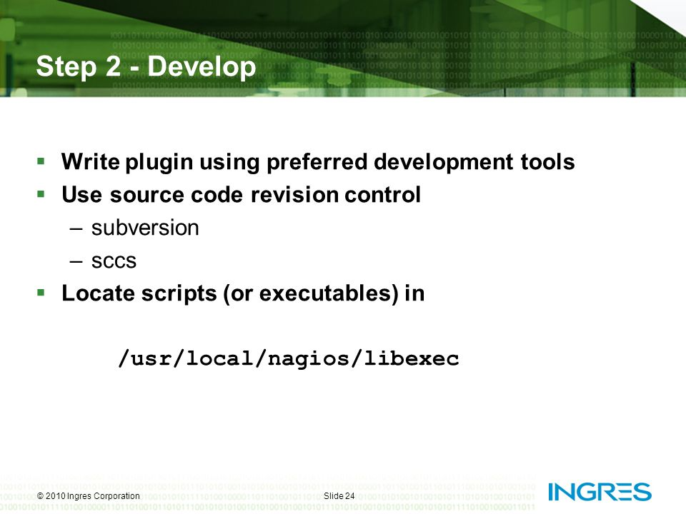 Step 2 - Develop Write plugin using preferred development tools