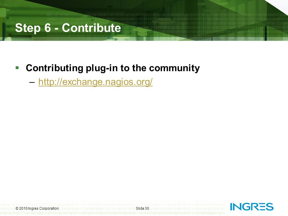 Step 6 - Contribute Contributing plug-in to the community