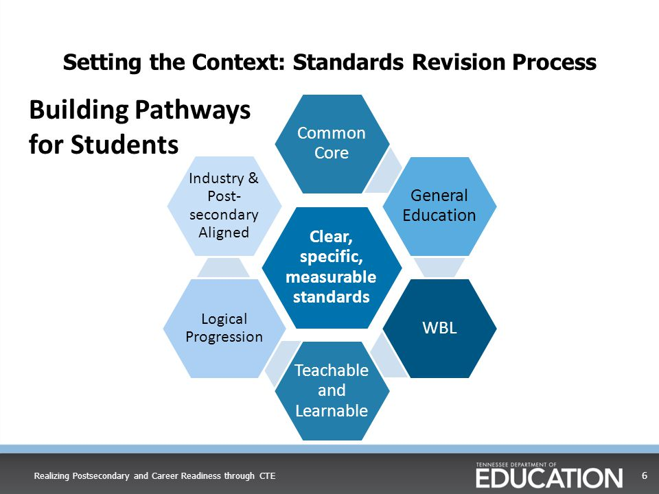 Setting the Context: Standards Revision Process