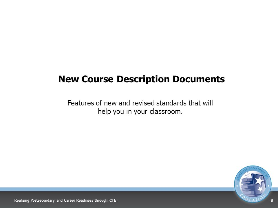 New Course Description Documents