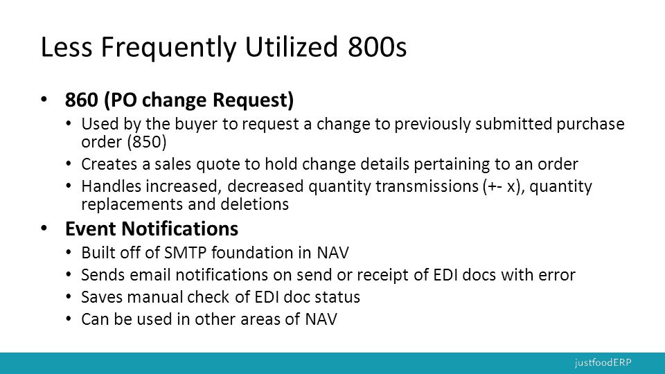 Less Frequently Utilized 800s