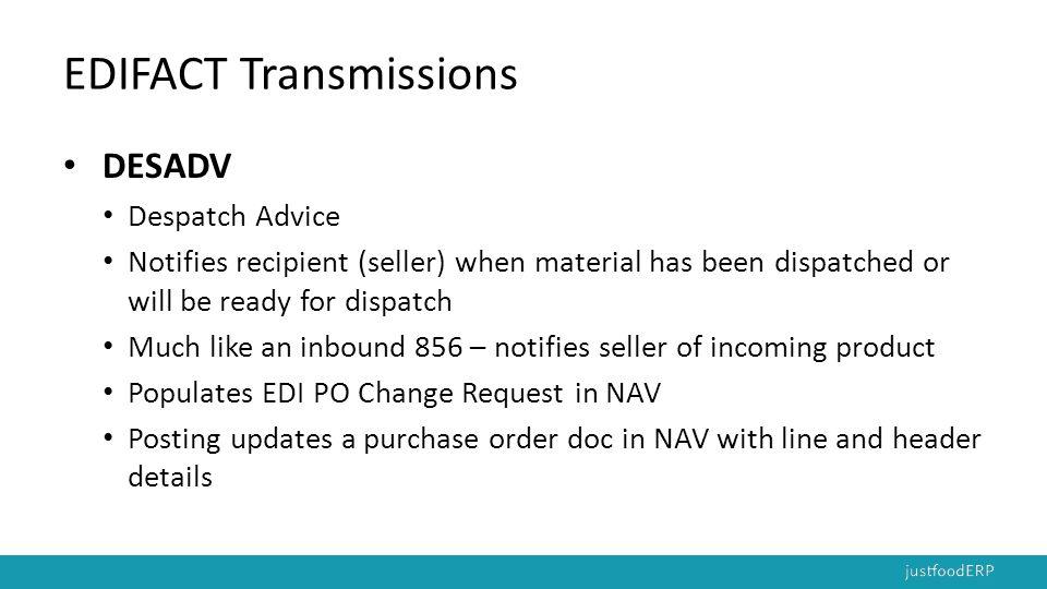 EDIFACT Transmissions
