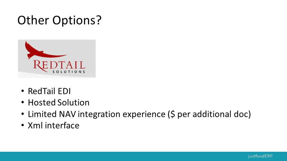 Other Options RedTail EDI Hosted Solution
