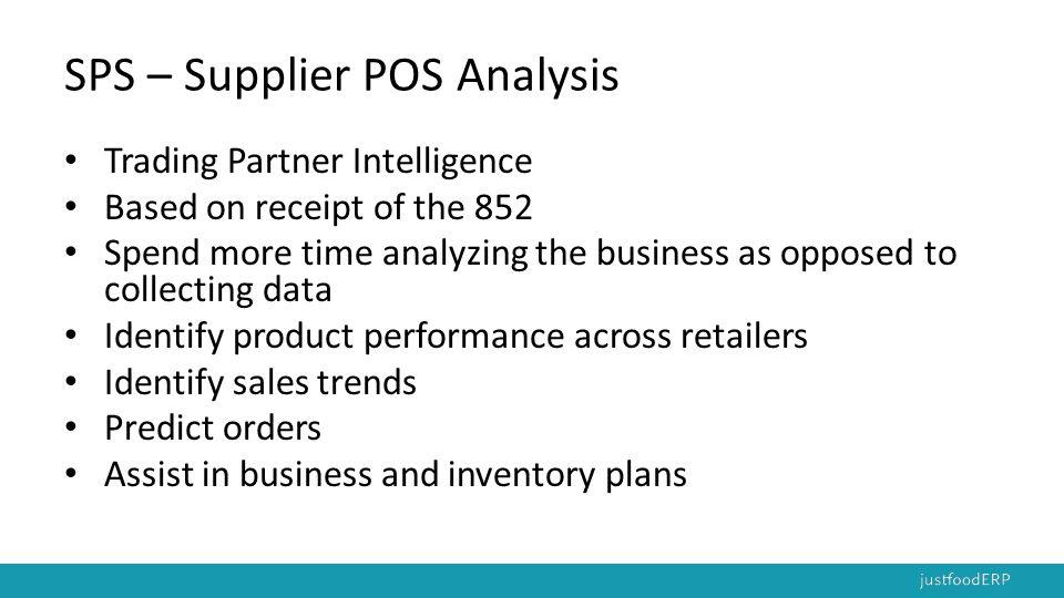 SPS – Supplier POS Analysis