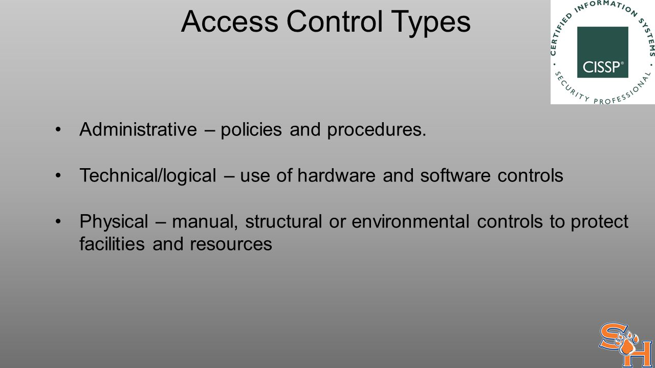 Basic concepts of access control