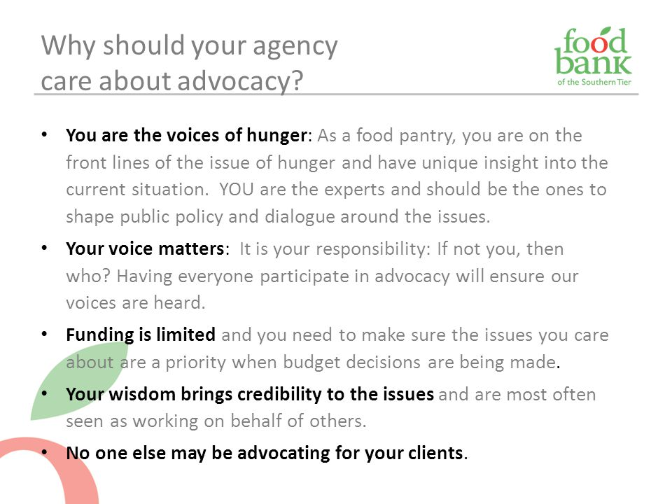 Why should your agency care about advocacy