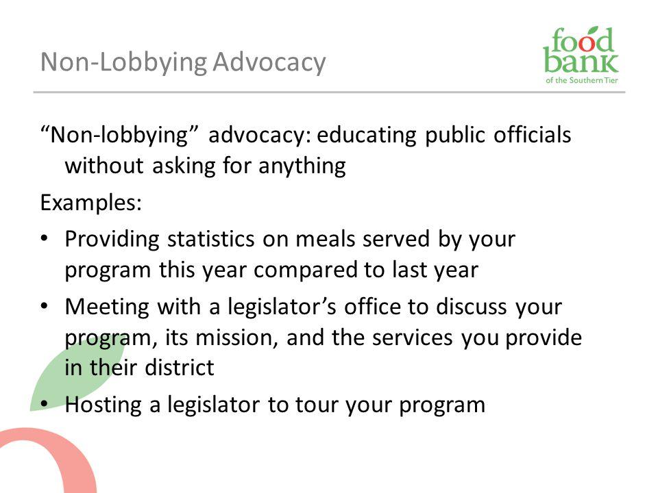 Non-Lobbying Advocacy