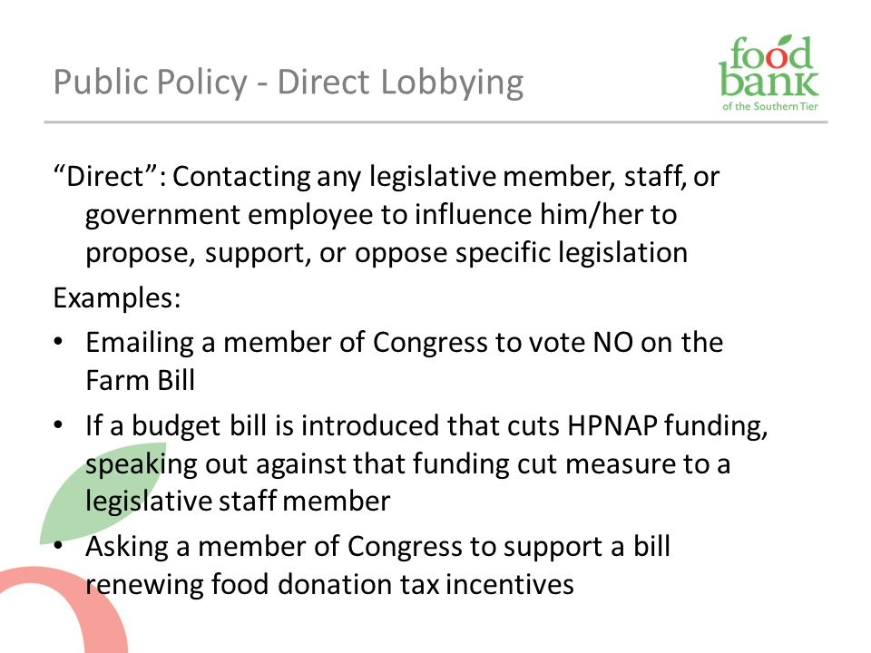 Public Policy - Direct Lobbying