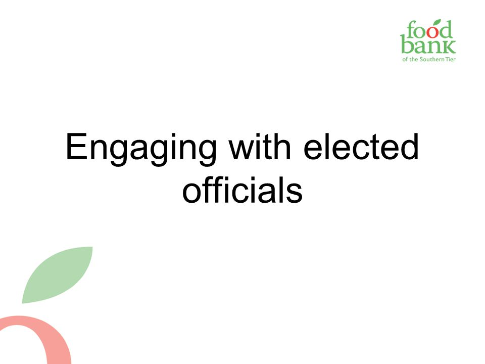 Engaging with elected officials