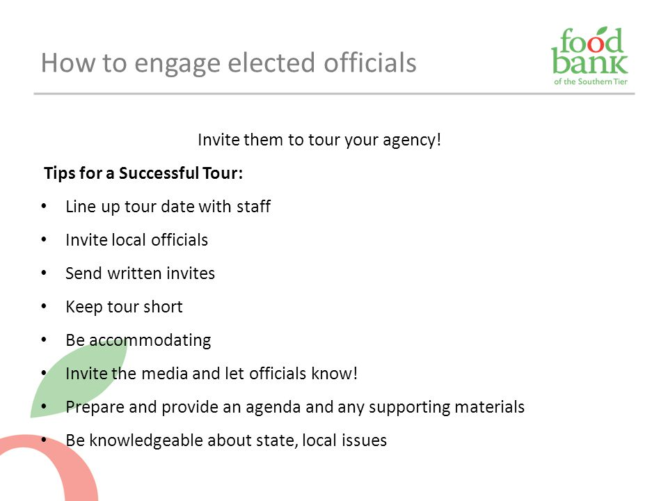 How to engage elected officials