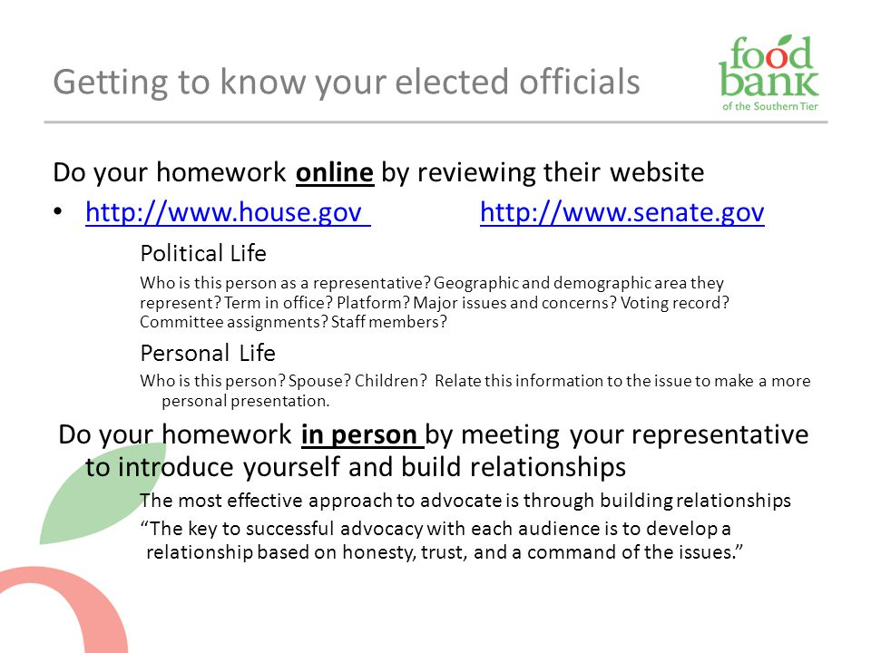 Getting to know your elected officials