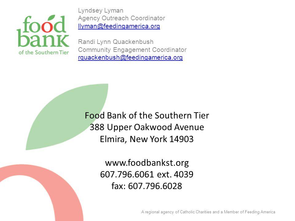 Food Bank of the Southern Tier 388 Upper Oakwood Avenue