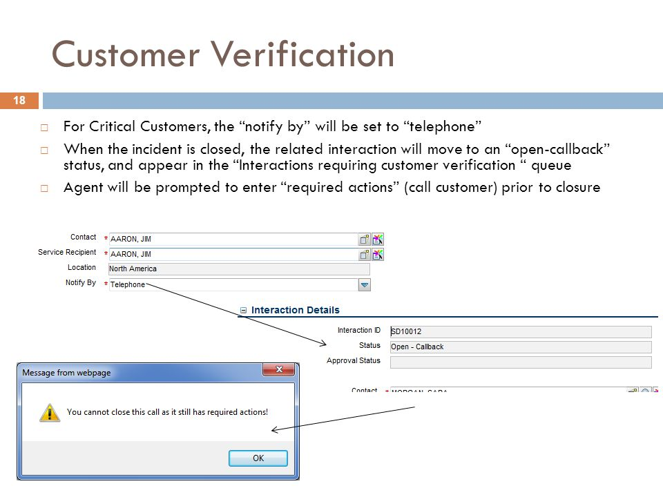 Customer Verification