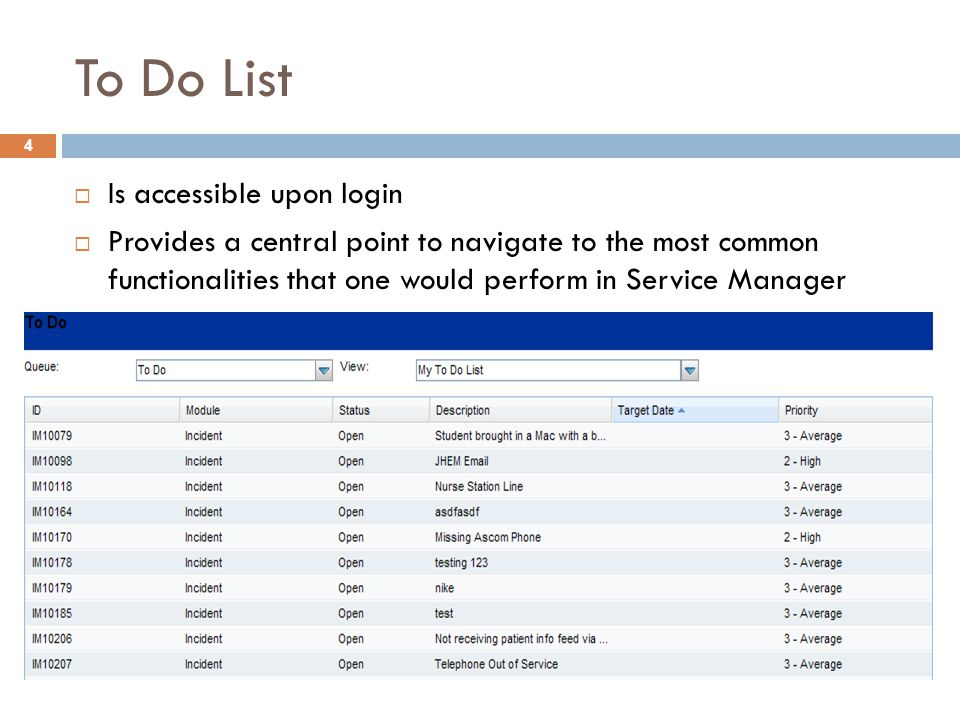To Do List Is accessible upon login