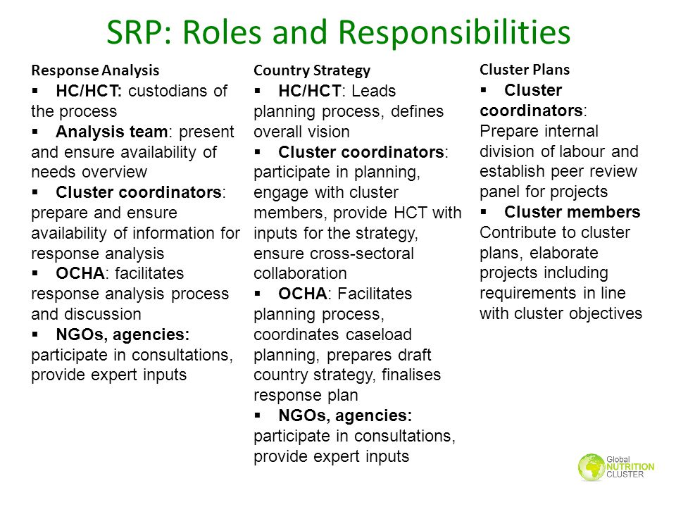 SRP: Roles and Responsibilities
